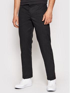 Dickies Dickies Spodnie materiałowe Straight Work DK0WP873 Czarny Slim Fit