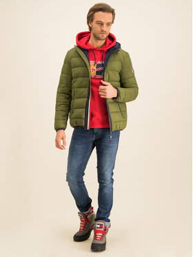 Tommy Jeans Tommy Jeans Μπουφάν πουπουλένιο Essential DM0DM07365 Πράσινο Regular Fit