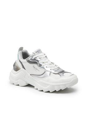 Pepe Jeans Pepe Jeans Sneakersy Eccles Galaxy PLS31225 Biela