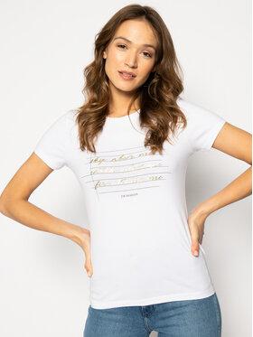 Trussardi Jeans Trussardi Jeans T-Shirt 56T00243 Bílá Slim Fit