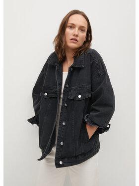 Mango Mango Kurtka jeansowa Seul 17070108 Czarny Oversize