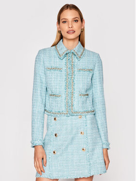 Marciano Guess Marciano Guess Блейзър Tweed 1GG201 9543Z Син Slim Fit