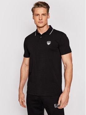 EA7 Emporio Armani EA7 Emporio Armani Тениска с яка и копчета 3KPF05 PJ03Z 1200 Черен Regular Fit
