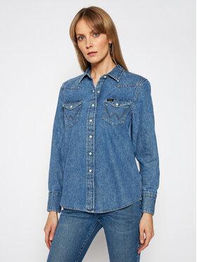 Wrangler Wrangler Koszula jeansowa Western W5WSLW31S Niebieski Regular Fit