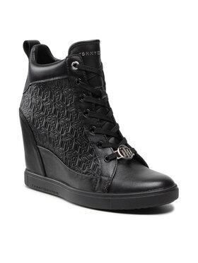 Tommy Hilfiger Tommy Hilfiger Sneakersy Metallic Pop Sneaker Wedge FW0FW06118 Čierna
