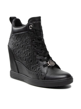 Tommy Hilfiger Tommy Hilfiger Tenisice Metallic Pop Sneaker Wedge FW0FW06118 Crna