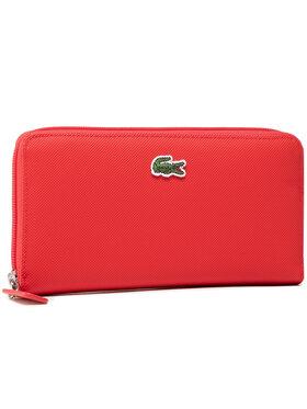 Lacoste Lacoste Голям дамски портфейл L Zip Wallet NF2900PO Червен