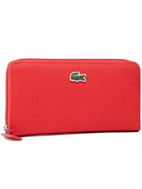 Lacoste Lacoste Velká dámská peněženka L Zip Wallet NF2900PO Červená