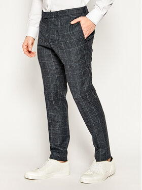 Strellson Strellson Spodnie garniturowe 11 Kynd 30020942 Granatowy Slim Fit