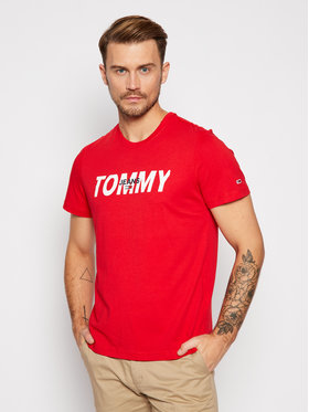Tommy Jeans Tommy Jeans T-shirt Layered Graphic DM0DM09481 Rosso Regular Fit