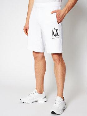 Armani Exchange Armani Exchange Sportske kratke hlače 8NZSPA ZJ1ZZ 1100 Bijela Regular Fit