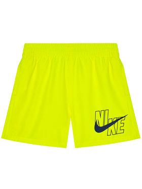 NIKE NIKE Szorty kąpielowe Logo Solid NESSA771 Żółty Standard Fit