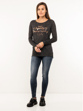 Superdry Superdry Bluzka Parton LS Graphic Top W6000020A Szary Regular Fit