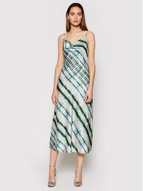 Guess Guess Sukienka letnia Akilina W1GK0K WD8G0 Zielony Slim Fit