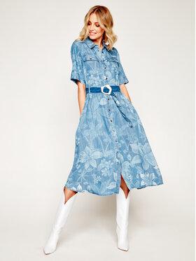 Desigual Desigual Marškinių tipo suknelė Sailor 20SWVN01 Mėlyna Regular Fit