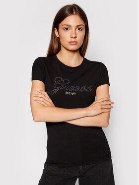 Guess Guess T-Shirt Selina W1YI85 J1311 Μαύρο Slim Fit