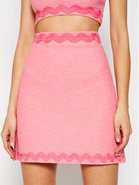 Pinko Pinko Spódnica mini Prudente PE 21 BLK01 1G15RF 8443 Różowy Regular Fit