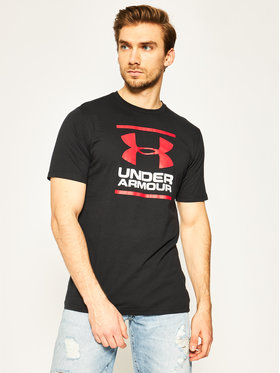 Under Armour Under Armour Technikai póló Ua Gl Foundation 1326849 Fekete Loose Fit