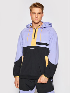 adidas adidas Bluza Adventure Colorblock Mixed Material GN2366 Fioletowy Regular Fit
