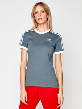 adidas adidas T-Shirt Adicolor Clasics 3-Stripes GN2914 Szary Regular Fit