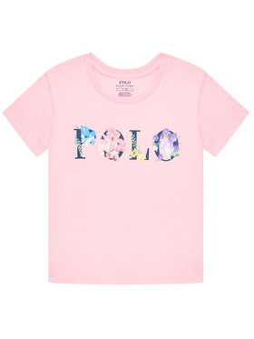 Polo Ralph Lauren Polo Ralph Lauren Marškinėliai Graphic Tee 313837218001 Rožinė Regular Fit