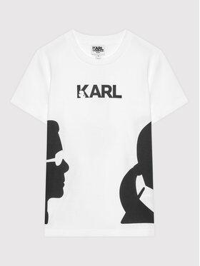KARL LAGERFELD KARL LAGERFELD Тишърт Z25301 S Бял Regular Fit
