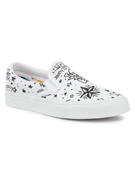 Vans Vans Πάνινα παπούτσια Classic Slip-On VN0A4BV31IU1 Λευκό