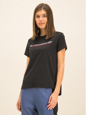 Tommy Sport Tommy Sport Marškinėliai Logo S10S100061 Juoda Regular Fit