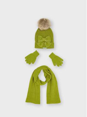 Mayoral Mayoral Zestaw czapka, szalik i rękawiczki 10155 Zielony