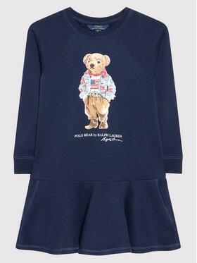 Polo Ralph Lauren Polo Ralph Lauren Ежедневна рокля Bear 313856712001 Тъмносин Regular Fit
