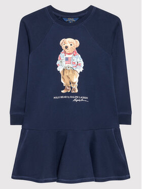 Polo Ralph Lauren Polo Ralph Lauren Každodenní šaty Bear 313856712001 Tmavomodrá Regular Fit