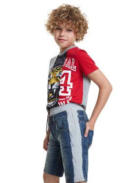 Desigual Desigual Jeansshorts Ortiz 20SBDD03 Blau Regular Fit