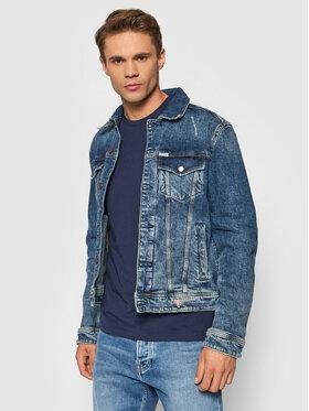 Guess Guess Kurtka jeansowa M1YXN1 D47II Granatowy Regular Fit