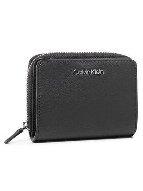 Calvin Klein Calvin Klein Portefeuille femme petit format Ck Must Zip W/Flap Md K60K606792 Noir