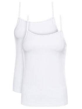 Calvin Klein Underwear Calvin Klein Underwear Sada 2 topů Cami 000QS6440E Bílá Regular Fit