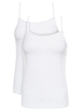 Calvin Klein Underwear Calvin Klein Underwear Súprava 2 topov Cami 000QS6440E Biela Regular Fit