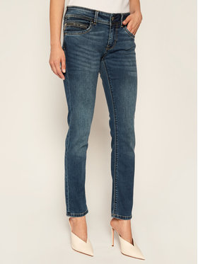 Pepe Jeans Pepe Jeans Jeansy Slim Fit New Brooke PL200019 Tmavomodrá Slim Fit