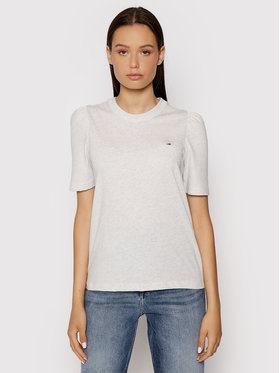 Tommy Jeans Tommy Jeans T-Shirt Ruffled Tee DW0DW09775 Šedá Slim Fit
