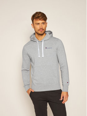 Champion Champion Mikina Small Script Logo Fleece 214780 Šedá Comfort Fit