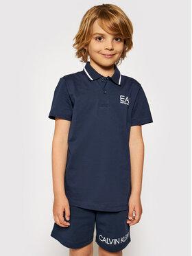 EA7 Emporio Armani EA7 Emporio Armani Polo marškinėliai 3KBF51 BJ02Z 1554 Tamsiai mėlyna Regular Fit