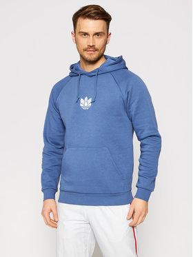 adidas adidas Μπλούζα 3D Trefoil GN3553 Μπλε Regular Fit