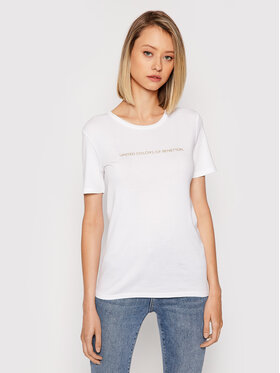 United Colors Of Benetton United Colors Of Benetton Тишърт 3GA2E16A2 Бял Regular Fit