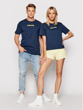 Levi's® Levi's® T-Shirt Unisex Housemark Graphic Tee A2083-0004 Tmavomodrá Standard Fit