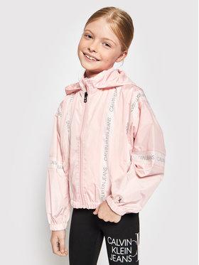 Calvin Klein Jeans Calvin Klein Jeans Prijelazna jakna Mesh Insert Logo Ružičasta Regular Fit