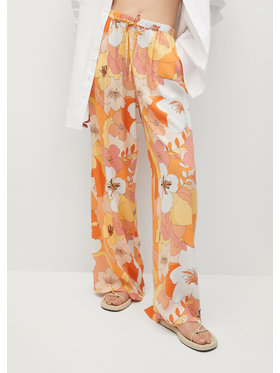Mango Mango Pantaloni din material Janis 87009205 Portocaliu Regular Fit