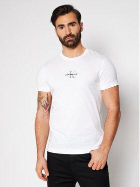 Calvin Klein Jeans Calvin Klein Jeans Póló J30J317092 Fehér Slim Fit