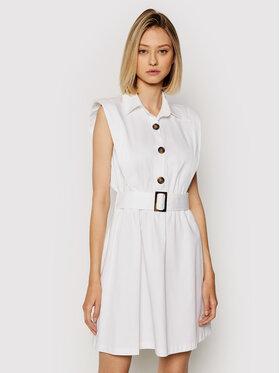 Rinascimento Rinascimento Ежедневна рокля CFC0103746003 Бял Regular Fit