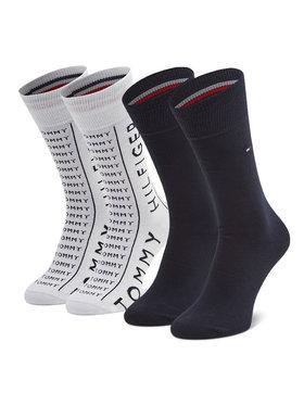 Tommy Hilfiger Tommy Hilfiger 2 pár hosszú szárú férfi zokni 100002676 Fehér