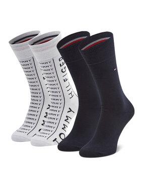 Tommy Hilfiger Tommy Hilfiger Sada 2 párů pánských vysokých ponožek 100002676 Bílá