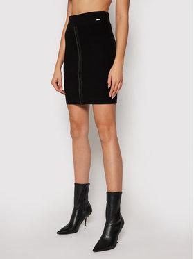 Guess Guess Mini sukně W1RD04 K8RT2 Černá Slim Fit